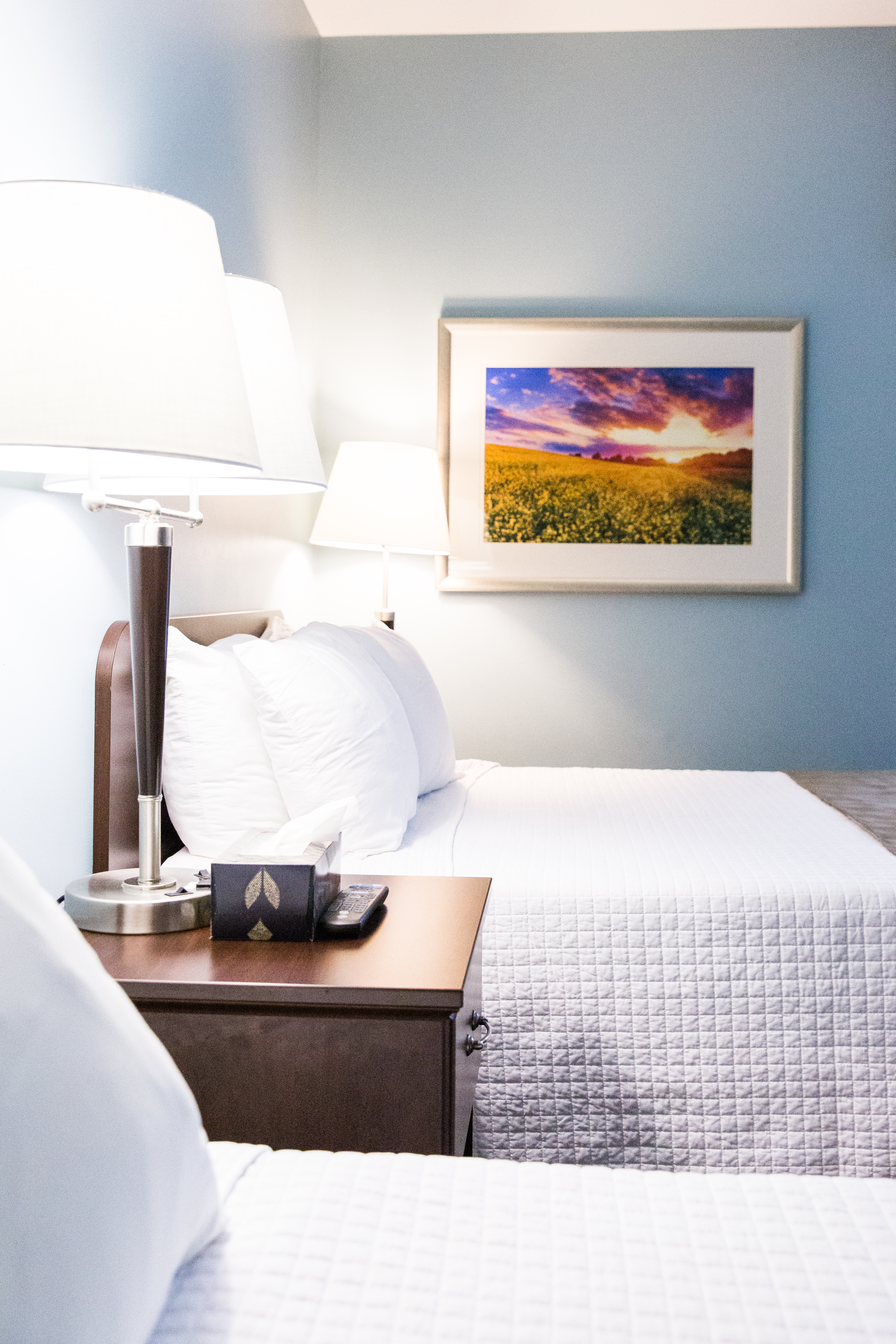 bedroom with photo